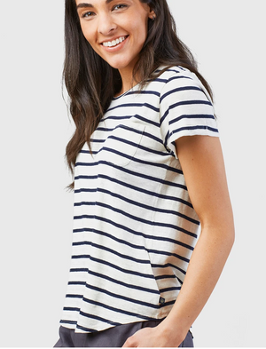 United By Blue Striped Pocket Tee