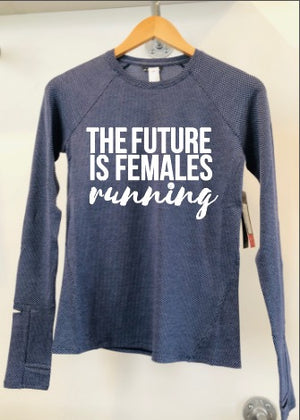 Oiselle Flyout Long Sleeve x TFIF Running (Grounded/Mizu)