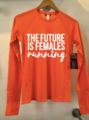 Oiselle Flyout Long Sleeve x TFIF Running (Crackle/Goldy)