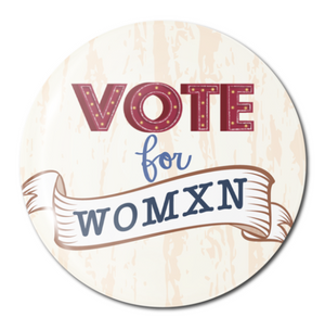 The Card Bureau Vote Womxn Button