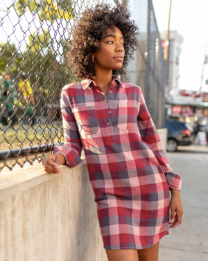 United By Blue Responsible Flannel Dress