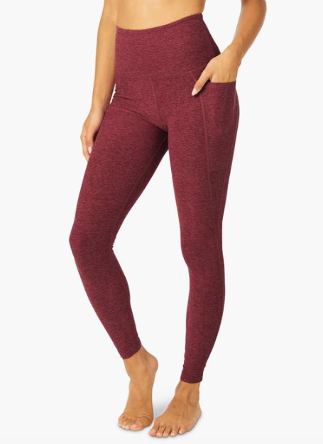 Beyond Yoga Out of Pocket Midi Legging (Deep Merlot)