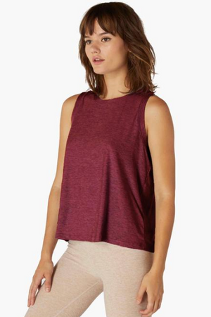 Beyond Yoga Balanced Muscle Tank (Deep Merlot)