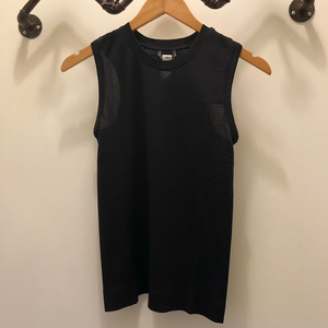 Oiselle Flow Tank x Outrunning the Patriarchy (Black/Black)