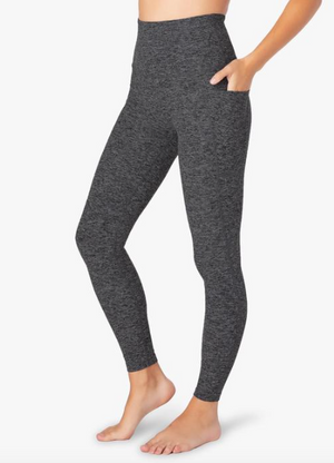 Beyond Yoga Out of Pocket Midi Legging (Black/Charcoal)