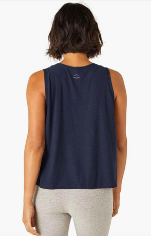 Beyond Yoga Balanced Muscle Tank (Nocturnal Navy)