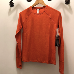 Oiselle Light Lux Long Sleeve (Garnet/Hibiscus)