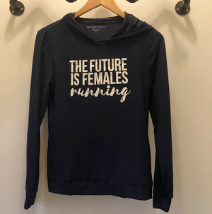 Beyond Yoga Day and Night Hoodie x TFIF Running (Nocturnal Navy)
