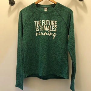 Oiselle Lux Long Sleeve x TFIF Running (Shelly Green/Douglas Fir)