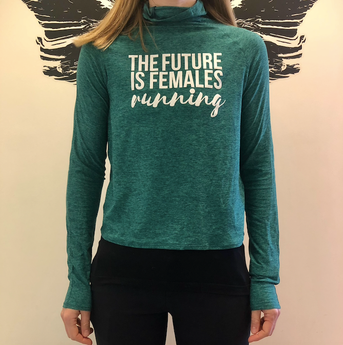 Oiselle Light Lux Mile One Pullover x TFIF Running (PNW/Shelly Green)