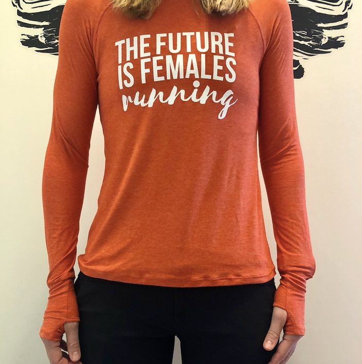 Oiselle Light Lux Long Sleeve x TFIF Running (Garnet/Hibiscus)