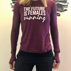Oiselle Light Lux Long Sleeve x TFIF Running (Queen/Empire)