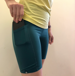Oiselle Mid Length Pocket Jogger Shorts (PNW)