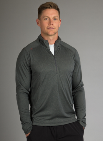 Rhone Men's Sequoia Air Pullover (Quarry)