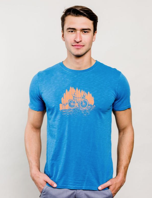 United By Blue Men's Bike Trail T-shirt (Celestrial)