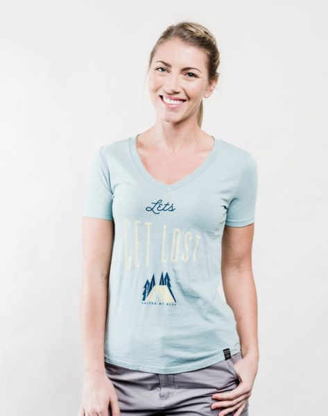 United By Blue Let's Get Lost Tee (Aqua)