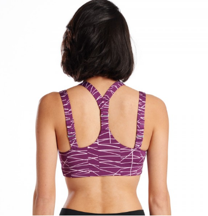 Oiselle Gifted Verrazano Bra (Plum Sticks)