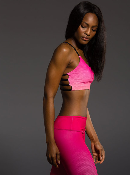 Onzie Graphic Vinyasa Bra (Summer Rose Ombre)