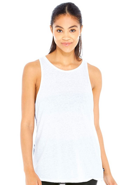 Terez Heathered Grey Stars Muscle Tank
