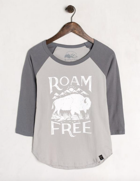 United By Blue Roam Free Baseball Tee (Charcoal/Grey)