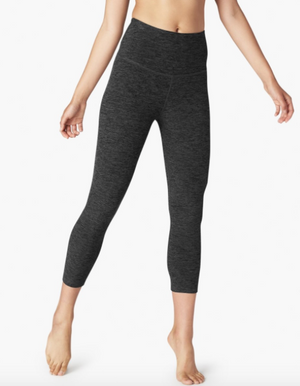 Beyond Yoga High Waist Capri (Black/Charcoal)
