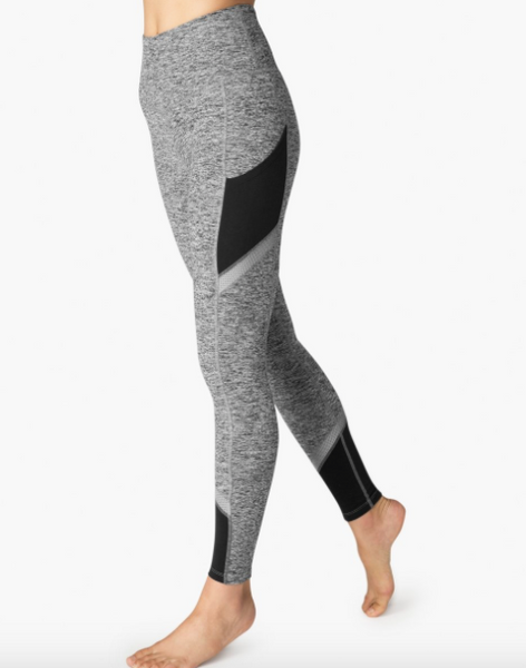 Beyond Yoga Spacedye Refraction High Waisted Long Legging (Black/White)