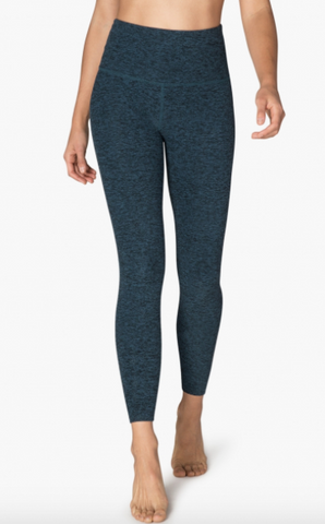 Beyond Yoga Midi High Waist Legging (Black/Deep Sapphire)