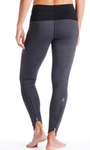 Oiselle KG Tights (Charcoal/Black)