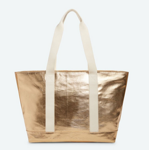 STATE Graham Tote Bag in Metallic Gold
