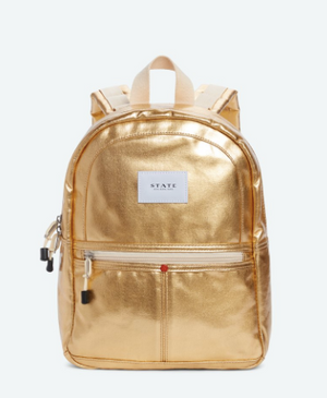 STATE Mini Kane Backpack in Metallic Gold