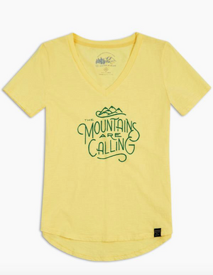 United By Blue Mountains Are Calling Tee (Yellow)