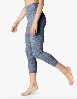 Beyond Yoga High Waist Capri (White/Outlaw Navy)