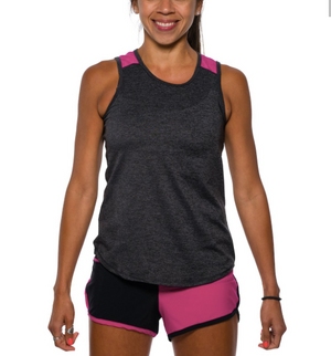 Rabbit Freedom Tank (Black Heather/Very Berry)