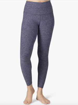 Beyond Yoga High Waisted Midi Legging (Deep Amethyst/Wild Wisteria)