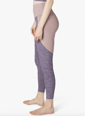 Beyond Yoga Off Duty Long Legging (Deep Amethyst/Wild Wisteria)