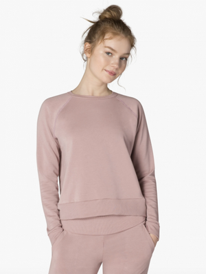 Beyond Yoga Slashes Raglan Crew Pullover