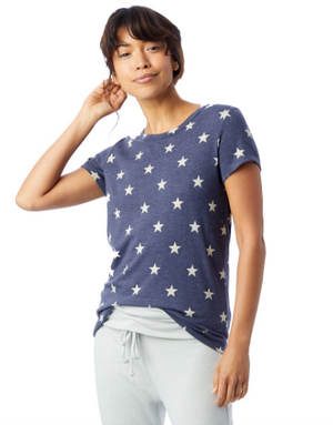 Alternative Apparel Ideal Printed Tee (Stars)
