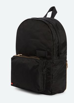 STATE Mini Lorimer Backpack in Black/Gold