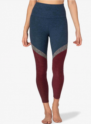 Beyond Yoga Tri-Panel Spacedye Midi Legging