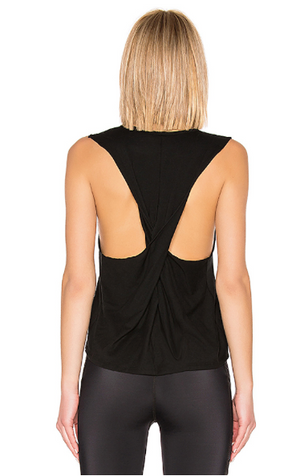 Beyond Yoga Round the Twist Tank (Black)