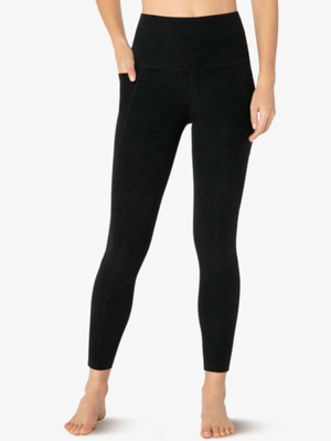 Beyond Yoga Out of Pocket Midi Legging (Darkest Night)