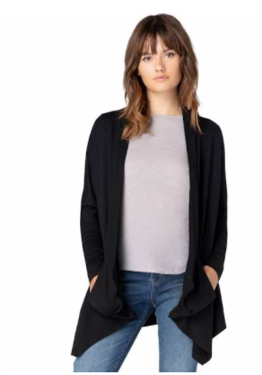 Beyond Yoga Ribbed Draped Cardigan