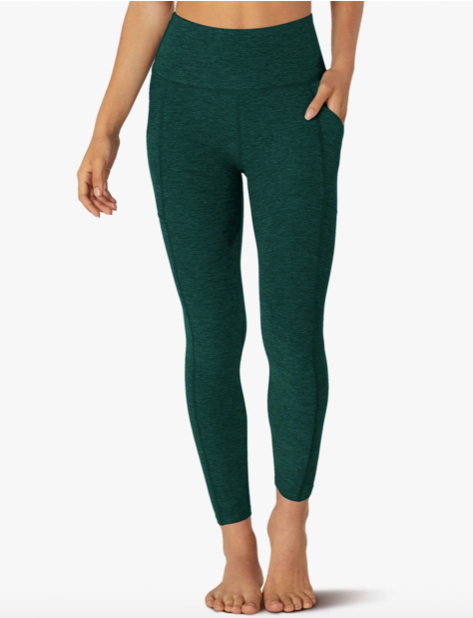 Beyond Yoga Out of Pocket Midi Legging (Hunter Green/Nocturnal Navy)