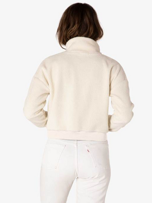Beyond Yoga All Time Cropped Pullover (Cream Sherpa)