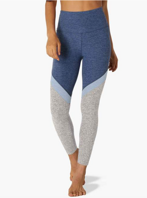 Beyond Yoga Tri-Panel Midi Legging (Blue Bells)