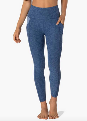 Beyond Yoga In the Mix Midi Legging (Serene Blue/Hazy Blue)