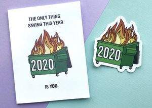 The Card Bureau - 2020 Dumpster Fire Greeting Cards