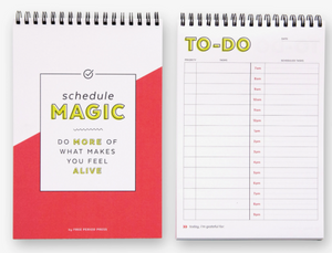 Daily Schedule Magic Spiral Notebook