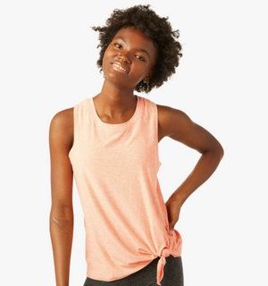 Beyond Yoga Space Dye All For Ties Tank (Sweet Peach/Pink Blush)