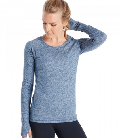 Oiselle Lux Raglan Long Sleeve (Midnight)